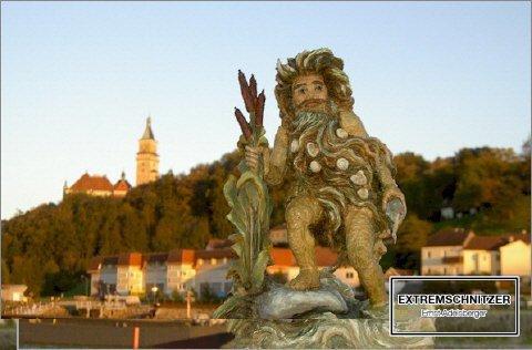 Das Donaumandl in Wallsee.